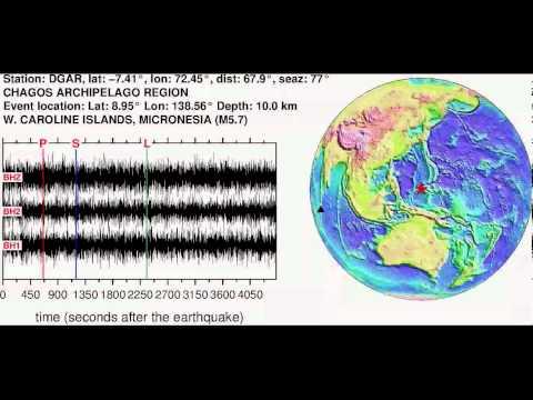 Earthquake in W. CAROLINE ISLANDS, MICRONESIA (M5.70): 2013/11/19 15:16:48 GMT