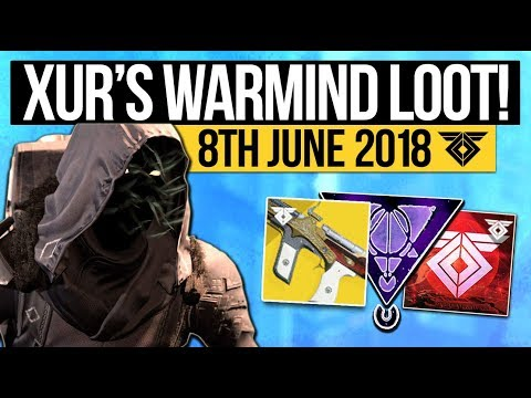 Destiny 2   XUR LOCATION & DLC EXOTICS! - New Exotic Weapon, Armor Inventory & More (8th June)