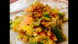 Easy Okra Curry Recipe (besan Wali Masala Bhindi)
