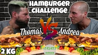 THE KILLER BURGER Challenge - THOMAS HUNGRY VS FOLLOWER - MAN VS FOOD