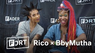 When BbyMutha Met Rico Nasty - FADER FORT 2018