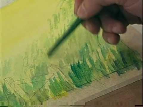 How to paint a beautiful landscape 1 watercolor como - Como pintar un radiador ...