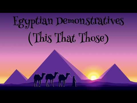 Egyptian Arabic Demonstratives (This That Those) Lesson 3