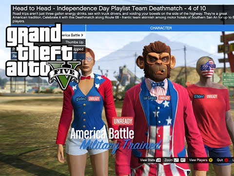 GTA Online Independence Day Event Stream - America vs Great Britain The Rematch