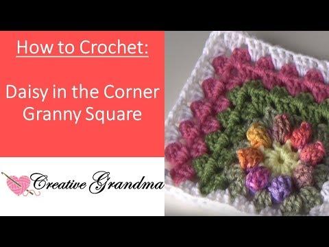 Daisy in the Corner Granny Square  - Crochet Tutorial