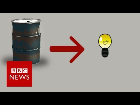 How Syrians are using barrels to create electricity - BBC News
