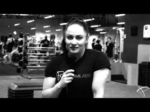 Amy Fox IFBB Women's Physique Pro - 12 weeks out from Pro Debut (Hamstring Training)