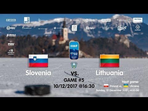 Slovenia - Lithuania #IIHFWJC1B #Bled