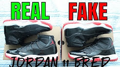 HOW TO: Tell if Your Jordan 11 Bred is REAL or FAKE (Crazy Comparison)