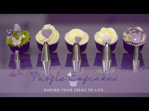 baking, buttercream and more. Flat Top Cupcakes and Swirls using favourite nozzles - Purple Cupcakes