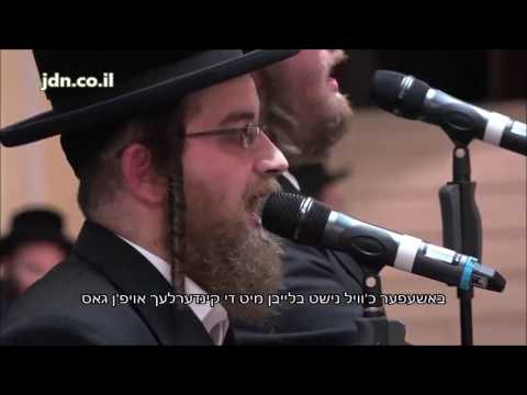 Moshe Damen And Hershel Rotenberg Sing At Rav Chesed - Belz Dinner In Antwerp