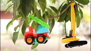ต้นไม้ออกลูกเป็นรถของเล่น | รถตักดิน รถตักหน้าขุดหลัง รถไฟ วีดีโอสำหรับเด็ก