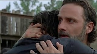 The Walking Dead 7x08 Ending  Group Reunites  Rick & Daryl Hug