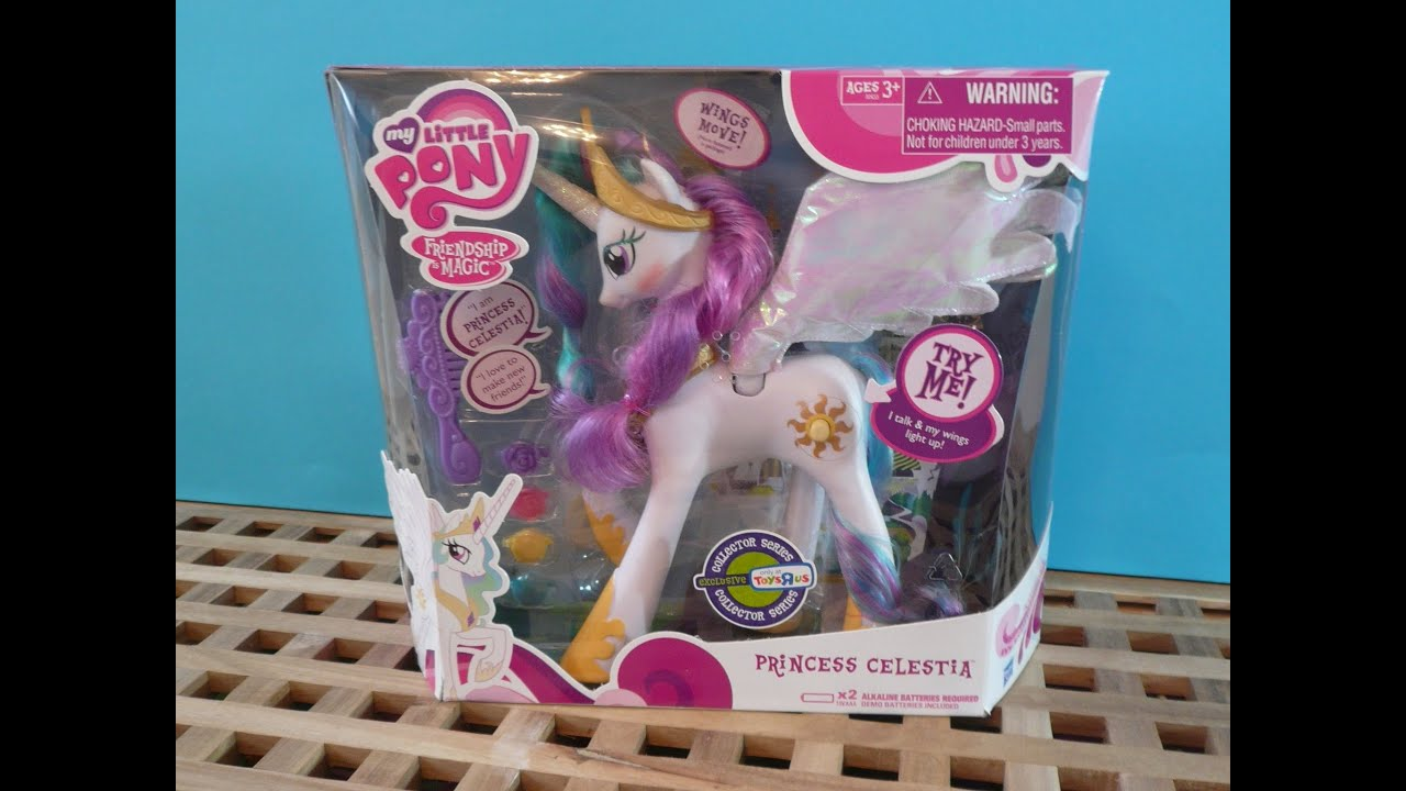 My Little Pony Collector Series Princess Celestia Toy Review MLP Toys R Us Exclusive Talks ...