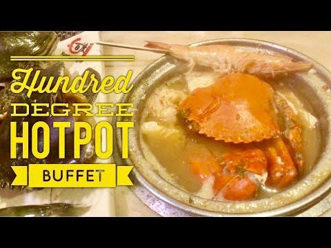 Serious Eats Manila: Hundred Degree Rotary Hotpot Buffet Ermita Metro Manila Crabs Live Shrimp 60FPS