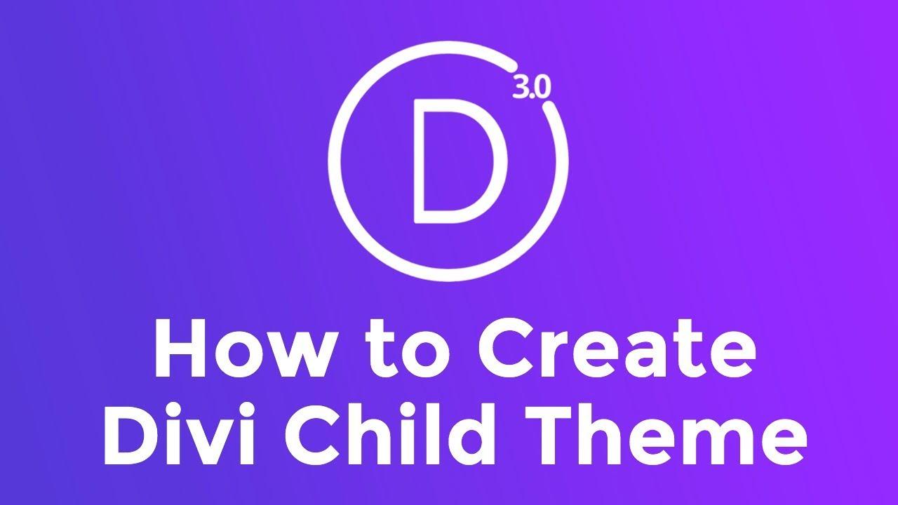How to make a divi child theme divi child theme tutorial youtube - Divi child theme ...