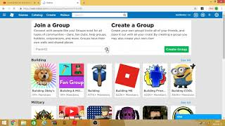 Group name in Roblox and how to dolonczyc step by step