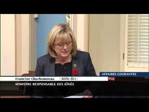 Francine Charbonneau - Prix Hommage Aînés 2014