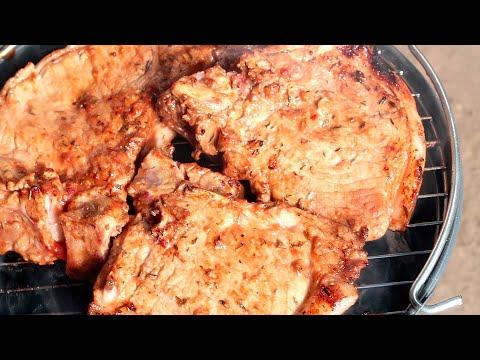 Свиная корейка на мангале Очень вкусно и сочно
