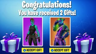 finalement.. GIFTING SYSTEM REVEALED à FORTNITE! (Gifting Skins Gameplay)