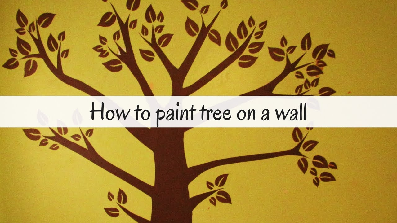 How to paint a tree on a wall/nursery room/bedroom - YouTube