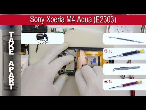 How to disassemble 📱 Sony Xperia M4 Aqua (E2303, E2333) Take apart Tutorial