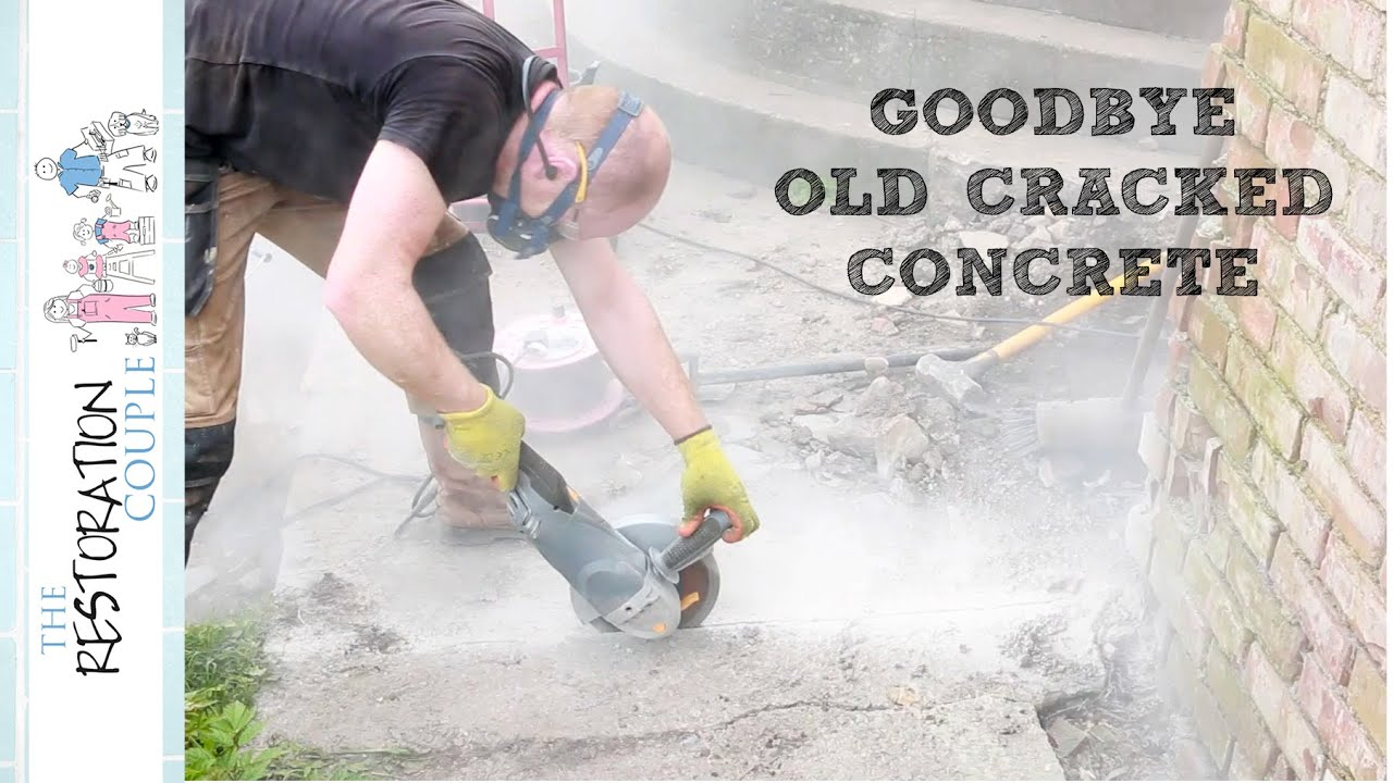 Breaking out the Old Concrete Paths
