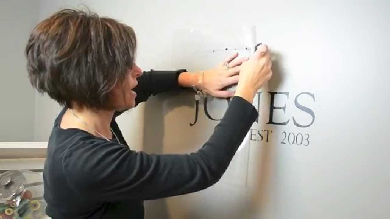 How to apply a custom wall decal youtube amipublicfo Gallery