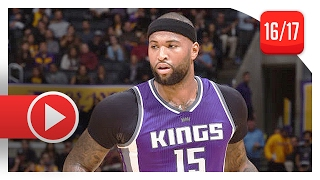 DeMarcus Cousins Full Highlights vs Lakers (2017.02.14) - 40 Pts, 12 Reb, 8 Ast, BEAST!