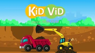 Çocuklar l JCB , KAMYON & RULO l Yol Yapım l Çocuk çizgi film Video ViD