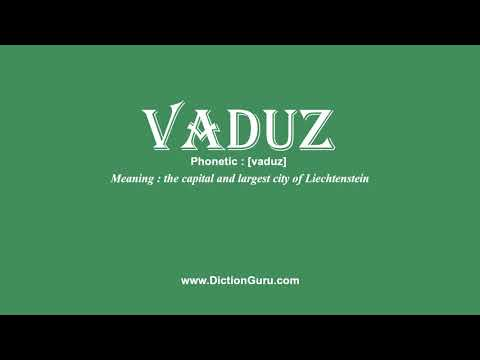 How to Pronounce vaduz with Meaning, Phonetic, Synonyms and Sentence Examples