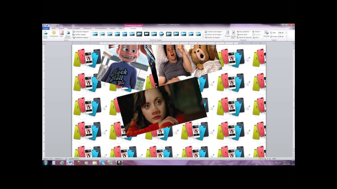 Como hacer collages en Microsoff Word - YouTube