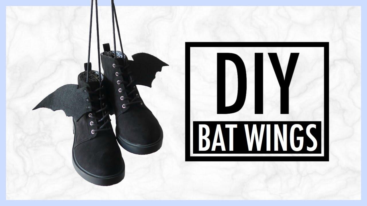 DIY No Sew Bat Wings Shoe   simplyshow