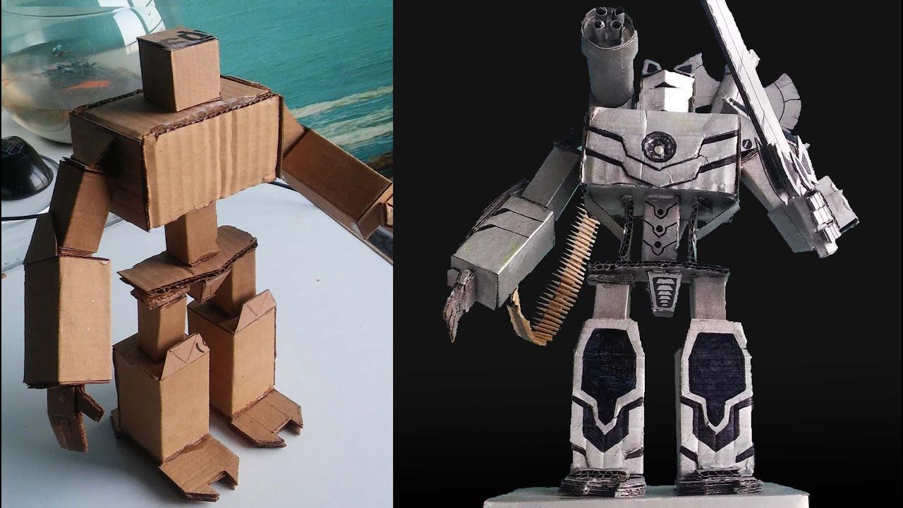 KARTONDAN MAKET ROBOT YAPMAK/MAKING A MODEL ROBOT FROM CARDBOARD-EMERCE PİCTURES-