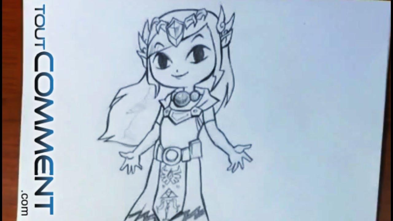 Dessiner la Princesse Zelda - YouTube