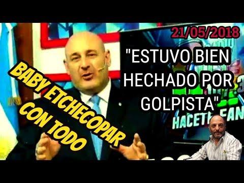BABY ETCHECOPAR OPINA SOBRE DESPIDO DE SANTIAGO CUNEO DE CRONICA TV