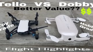 dji Tello VS Zerotech Dobby. Toy grade VS Hobby grade!! Better Value for the money??