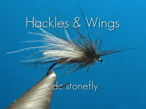 Fly tying CdC Stonefly | Hackles & Wings