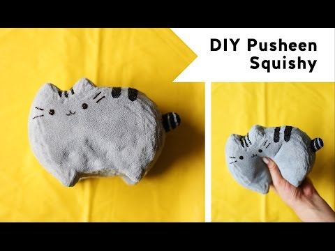 DIY Pusheen Squishy (feat. PolymomoTea)
