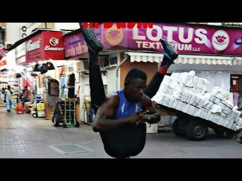 secret supper star Street performer in dubai|african man perform gymnastic in dubai