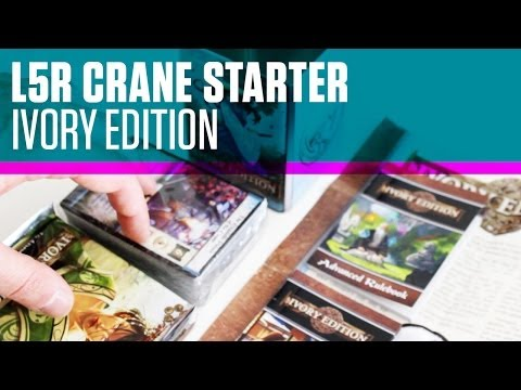 L5R Unboxing - Crane Starter Deck - Ivory Edition CCG TCG