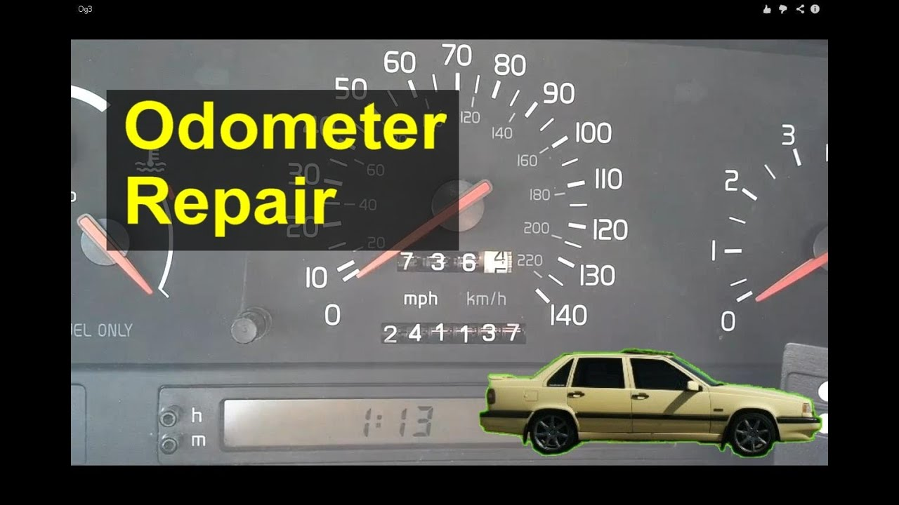 maxresdefault volvo 850 odometer gear repair replacement auto repair series Volvo 850 Engine Diagram at gsmportal.co