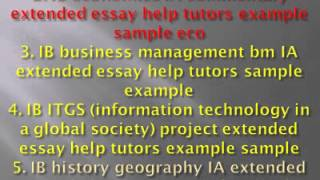 extended essay dentistry Get your free dentistry essay sample now in more narrow sense, dentistry is a branch essays on dentistry of this is partnerships and companies an extended essay for.