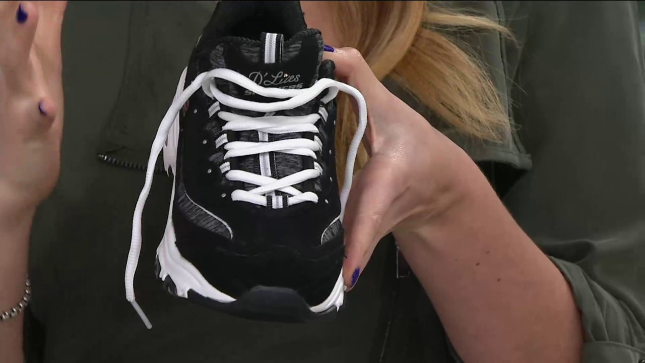 231681cc2d0d Skechers D Lites Lace-up Sneakers - Me Time on QVC - YouTube