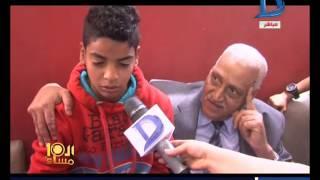 بالفيديو ـ طفل يتيم يحرج محافظ السويس