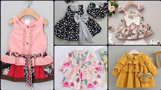 Gorgeous trendy summer frock designs for little girls//beautiful baby girl frocks designs