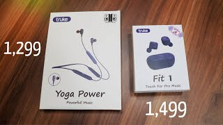 truke yoga power neckband earphone and truke Fit 1 tws true earbuds