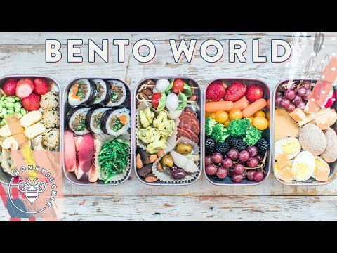 5 BENTO BOXES around the World 🌎 for #BuzyBeez