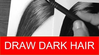 HOW TO DRAW Realistic Dark Hair Quick and Easy with Pencils