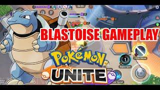 POKEMON UNITE BLASTOISE GAMEPLAY - CBT VERSION